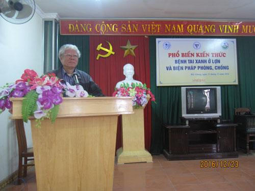 Tổ chức phổ biến kiến thức, hội thảo của Hội Thú y Việt Nam năm 2016 tại Bắc Giang